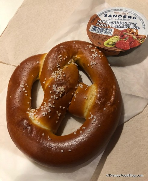 Warm Salted Caramel-Stuffed Pretzel
