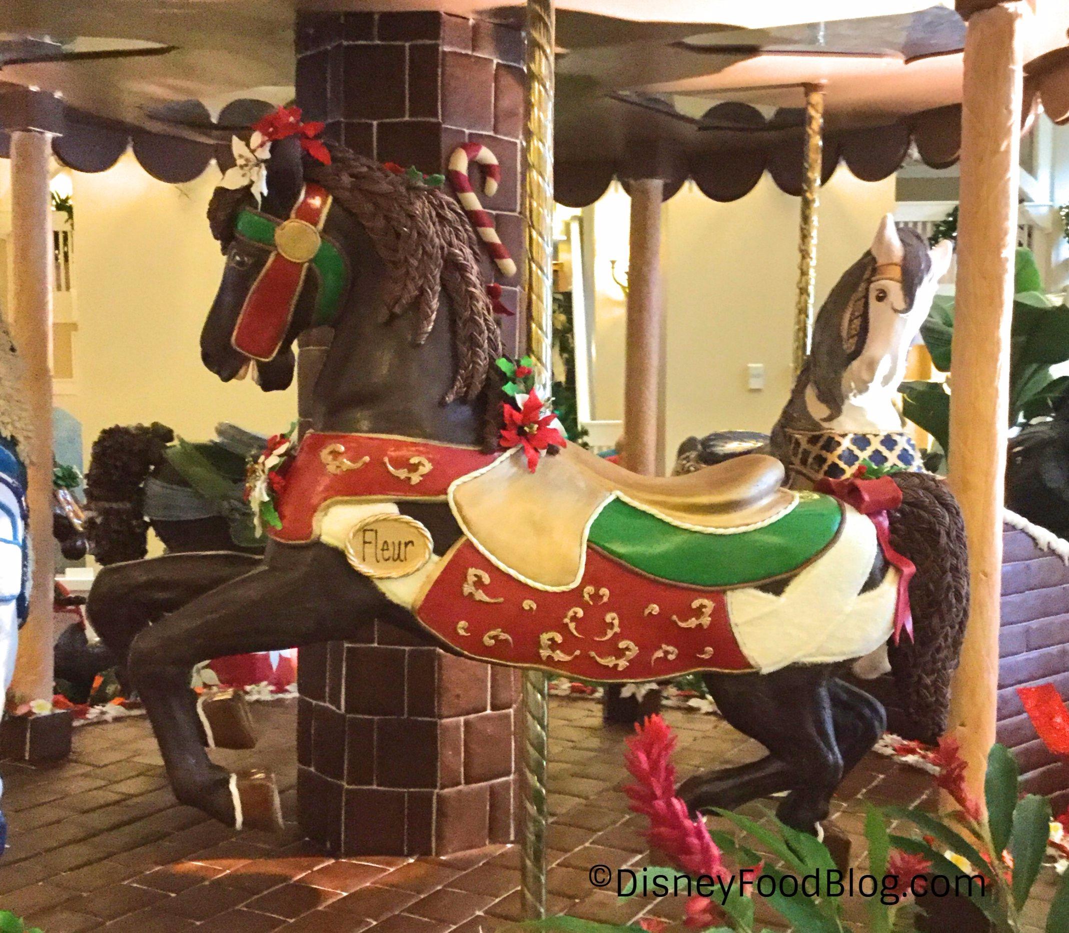 The 2017 Gingerbread Carousel at Disney's Beach Club Resort