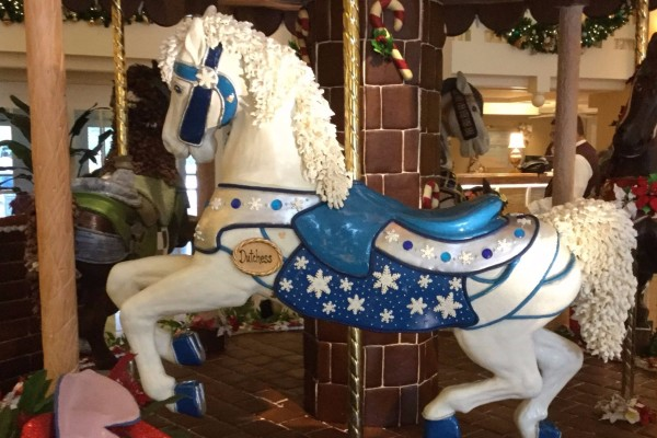 The 2017 Gingerbread Carousel at Disney's Beach Club Resort