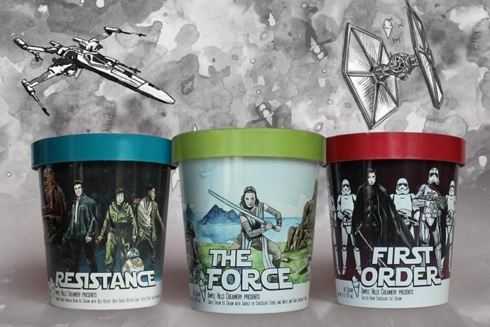 Star Wars: The Last Jedi-inspired Flavors ©Ample Hills Creamery