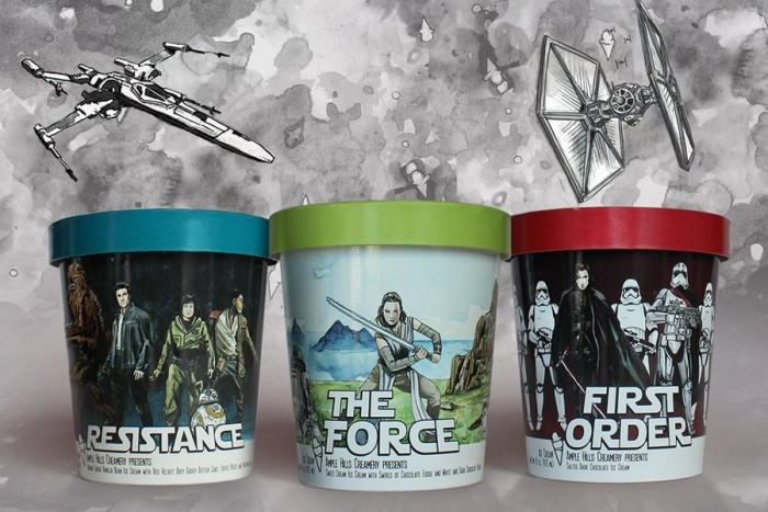 Star Wars: The Last Jedi-inspired Flavors ©Ample Hills Creamery