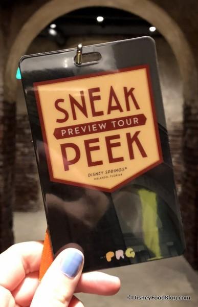 Sneak Peek Tour Lanyard