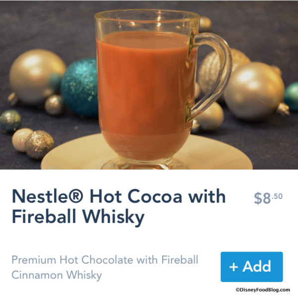 Hot Cocoa with Fireball Whisky on Mobile Order