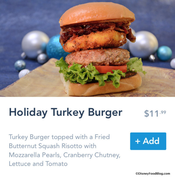 Holiday Turkey Burger on Mobile Order