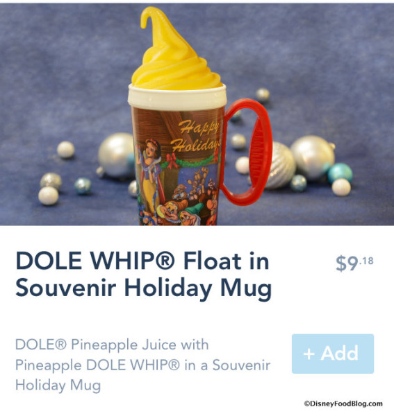 Dole Whip in Holiday Mug on Mobile Order