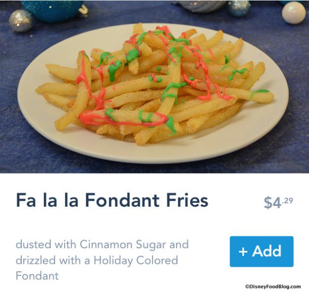 Fa la la Fondant Fries on Mobile Order