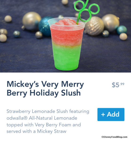 Mickey's Very Merry Berry Holiday Slush on Mobile Order