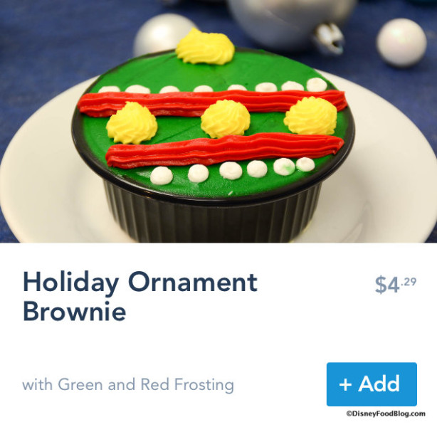 Holiday Ornament Brownie on Mobile Order