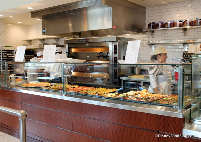 Pizza Counter and Pizza Oven