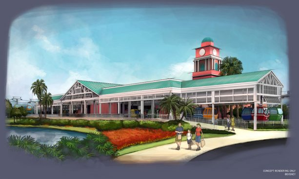 Caribbean Beach Resort Station ©Disney