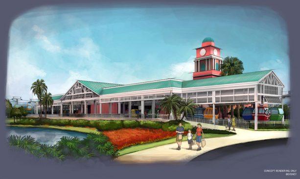 Caribbean Beach Resort Station ©Disney