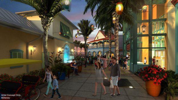 Caribbean Beach Resort Concept Art ©Disney