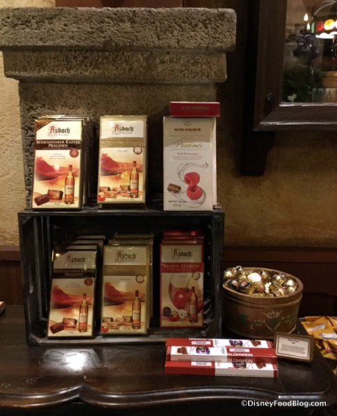 Table of Chocolates in the Weinkeller