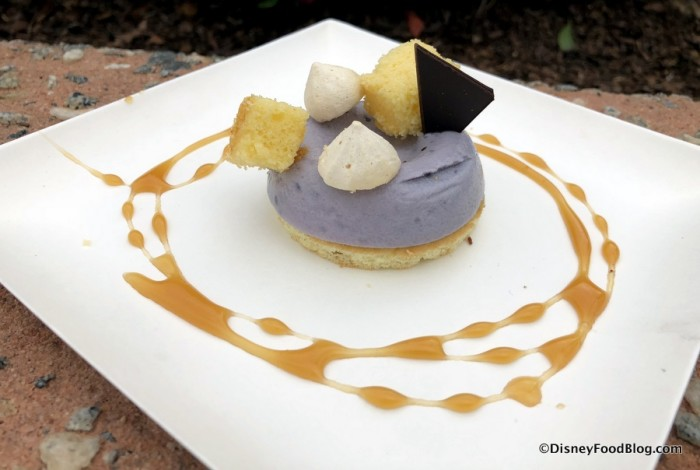 White Chocolate and Purple Sweet Potato Mousse