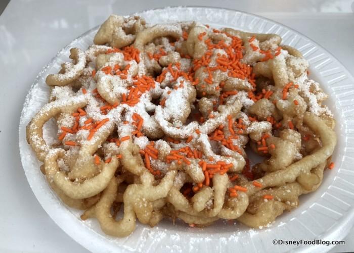 Orange Cream Funnel Cake