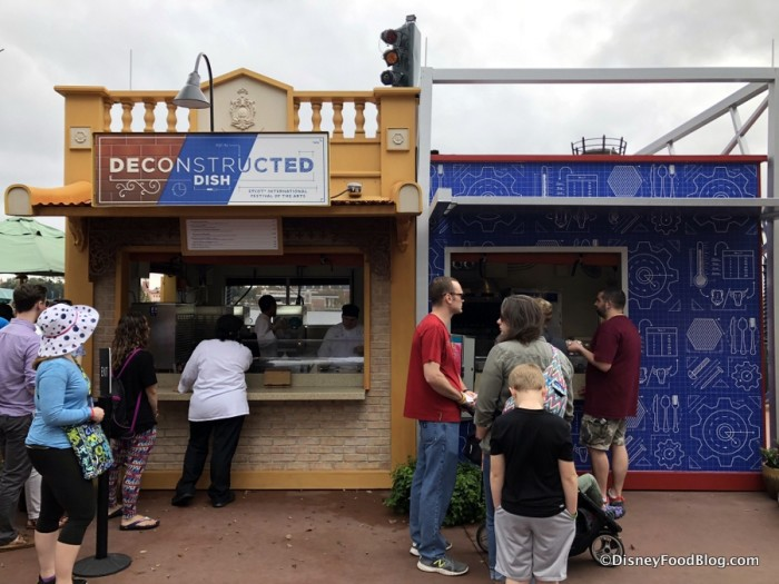 2018 Epcot Festival of the Arts The Deconstructed Dish Food Studio