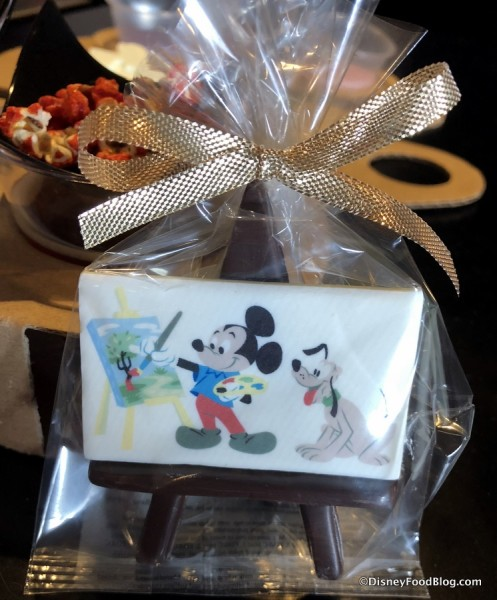 Mickey White Chocolate Painting