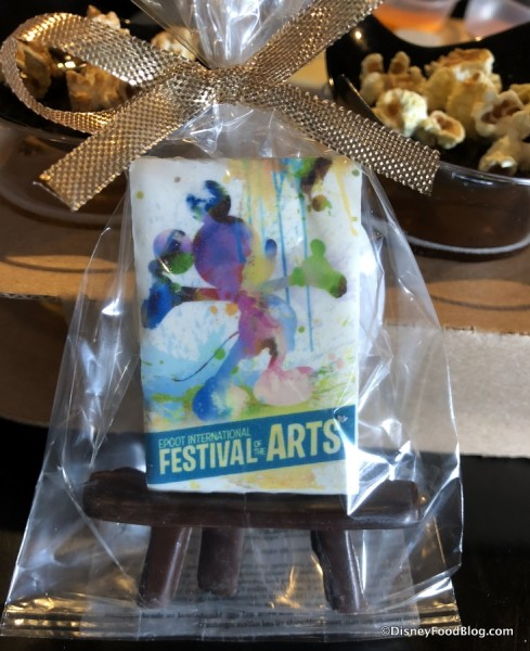 White Chocolate Painting with Festival Logo