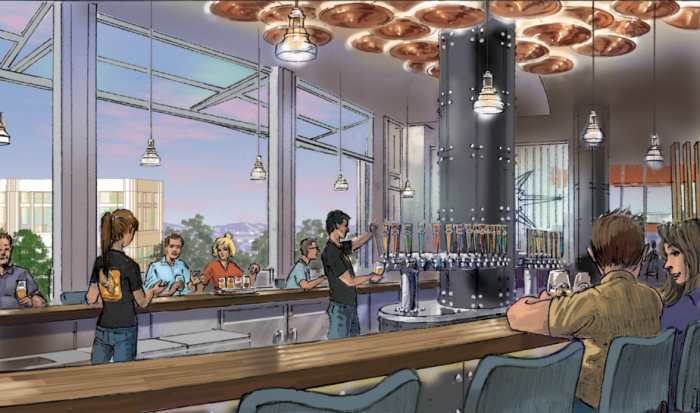 Artist rendering of bar area ©BallastPoint