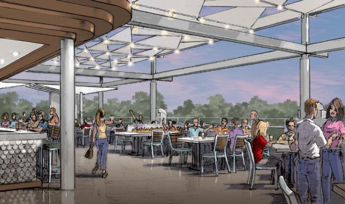 Artist rendering of Ballast Point patio ©BallastPoint