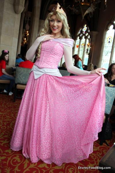 Aurora at Cinderella's Royal Table