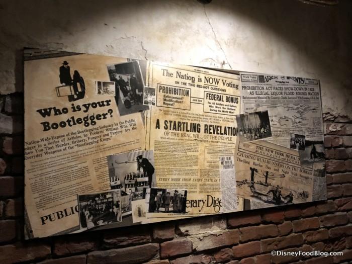 Enzo's Hideaway Tunnel Bar Decor