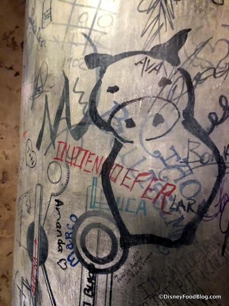 Enzo's Hideaway Tunnel Bar Graffiti