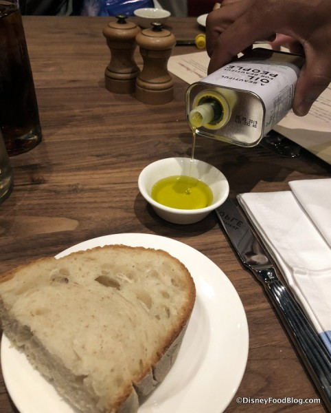Bread and Olive Oil to start your meal