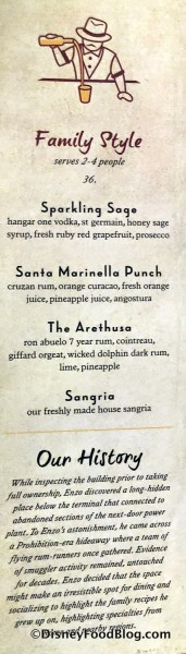 Family Style Drinks