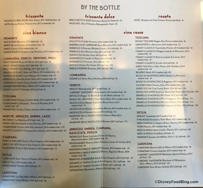 Wines by the Bottle