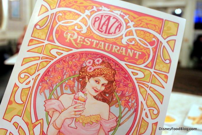 The Plaza Restaurant menus are so stylish!