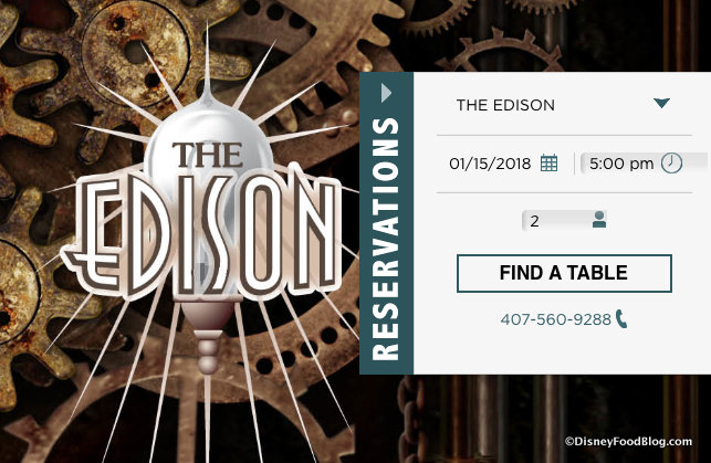 Screenshot of The Edison FLA website