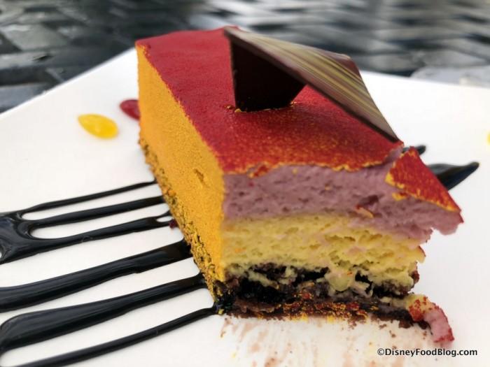 Le Coucher de Soleil: Sunset Mango and Raspberry Cake