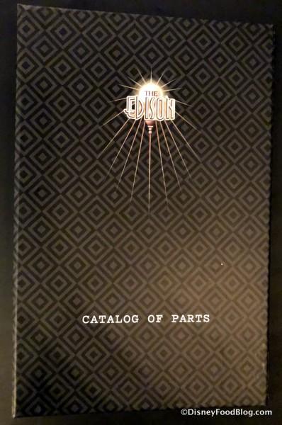 Catalog of Parts -- The Menu