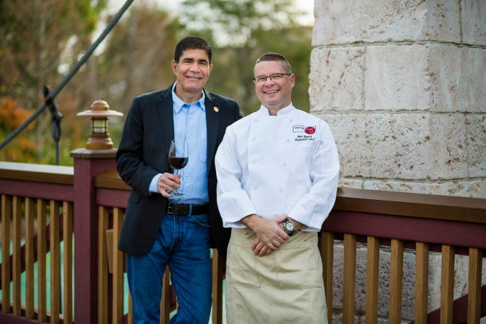 Sommelier Milliotes and Executive Chef Ron Rupert © Wine Bar George