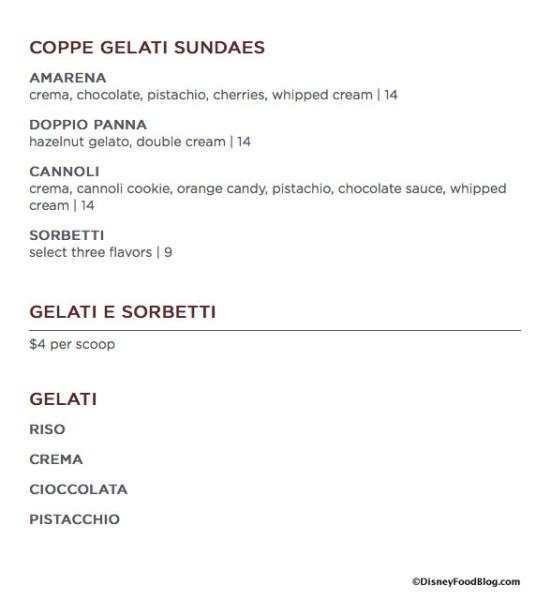 Enzo's Hideaway Dessert Menu