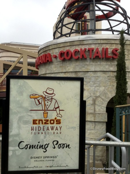 Enzo's Hideaway Tunnel Bar Coming Soon