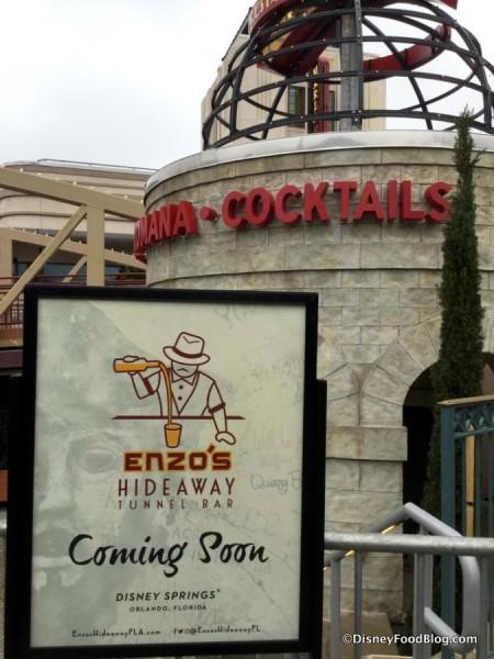 Enzo's Hideaway Tunnel Bar Coming Soon