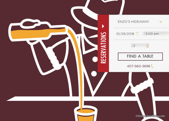 Screenshot of Enzo's Hideaway Tunnel Bar website