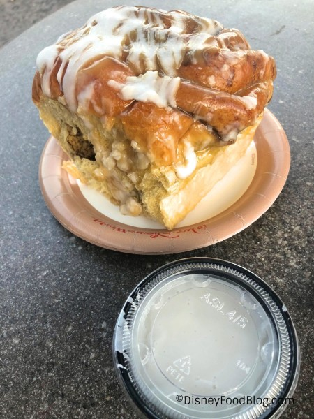 Gaston's Cinnamon Roll with Extra Icing