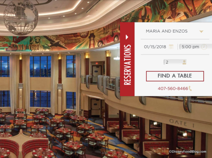 Screenshot of Maria & Enzo's Ristorante website
