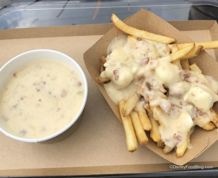 Cheddar Cheese Soup and Poutine in Epcot's Canada Pavilion