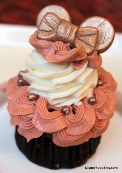 Rose Gold Minnie Ears Cupcake