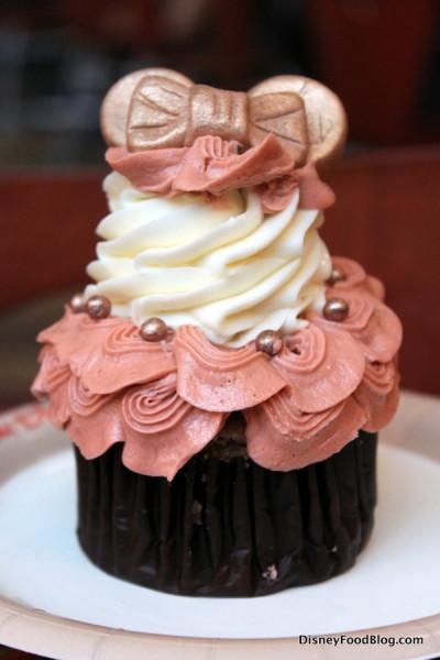 Rose Gold Minnie Ears Cupcake