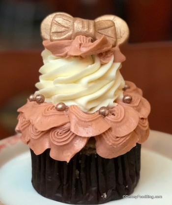 Rose Gold Ears Cupcake