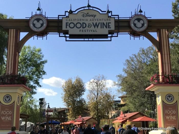 2018 Disney California Adventure Food and Wine Festival