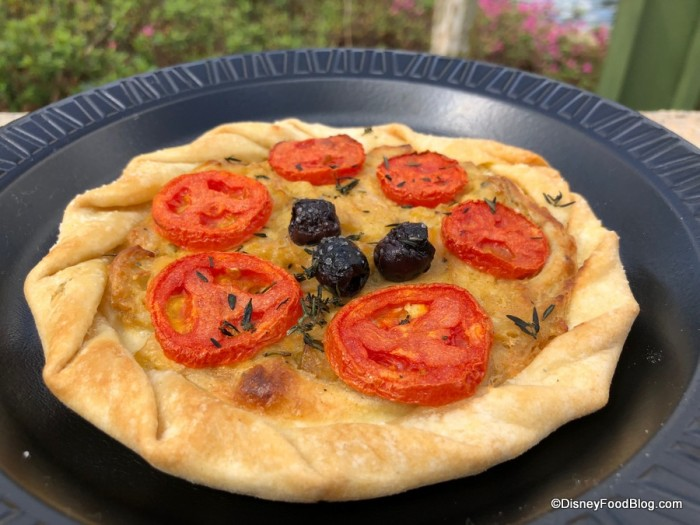 Provencal Tomato Tart with Sautéed Onions, Fresh Thyme and Rosemary on a Flaky Pastry Crust
