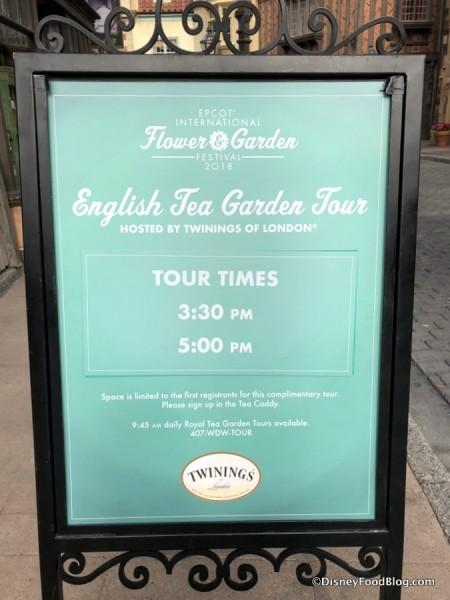 2018 English Tea Garden Tour