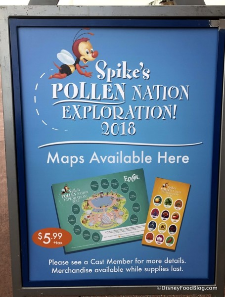 2018 Epcot Flower and Garden Festival pollenation exploration maps available 1