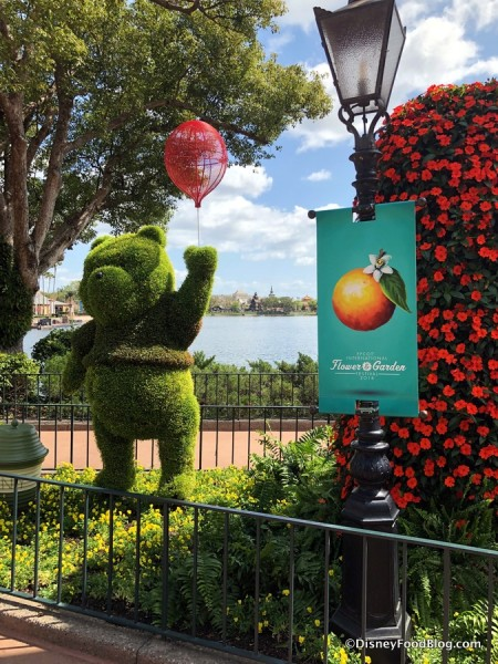 Pooh welcomes you to Epcot's Flower and Garden Festival!